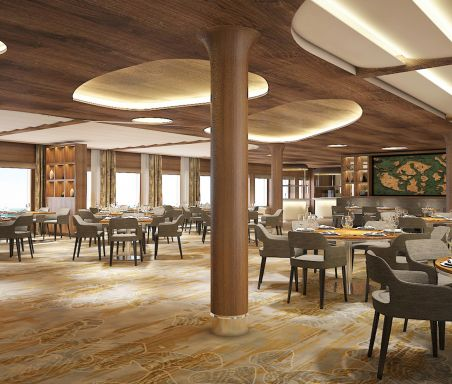 Seaside Restaurant on Celebrity Flora cruise ship