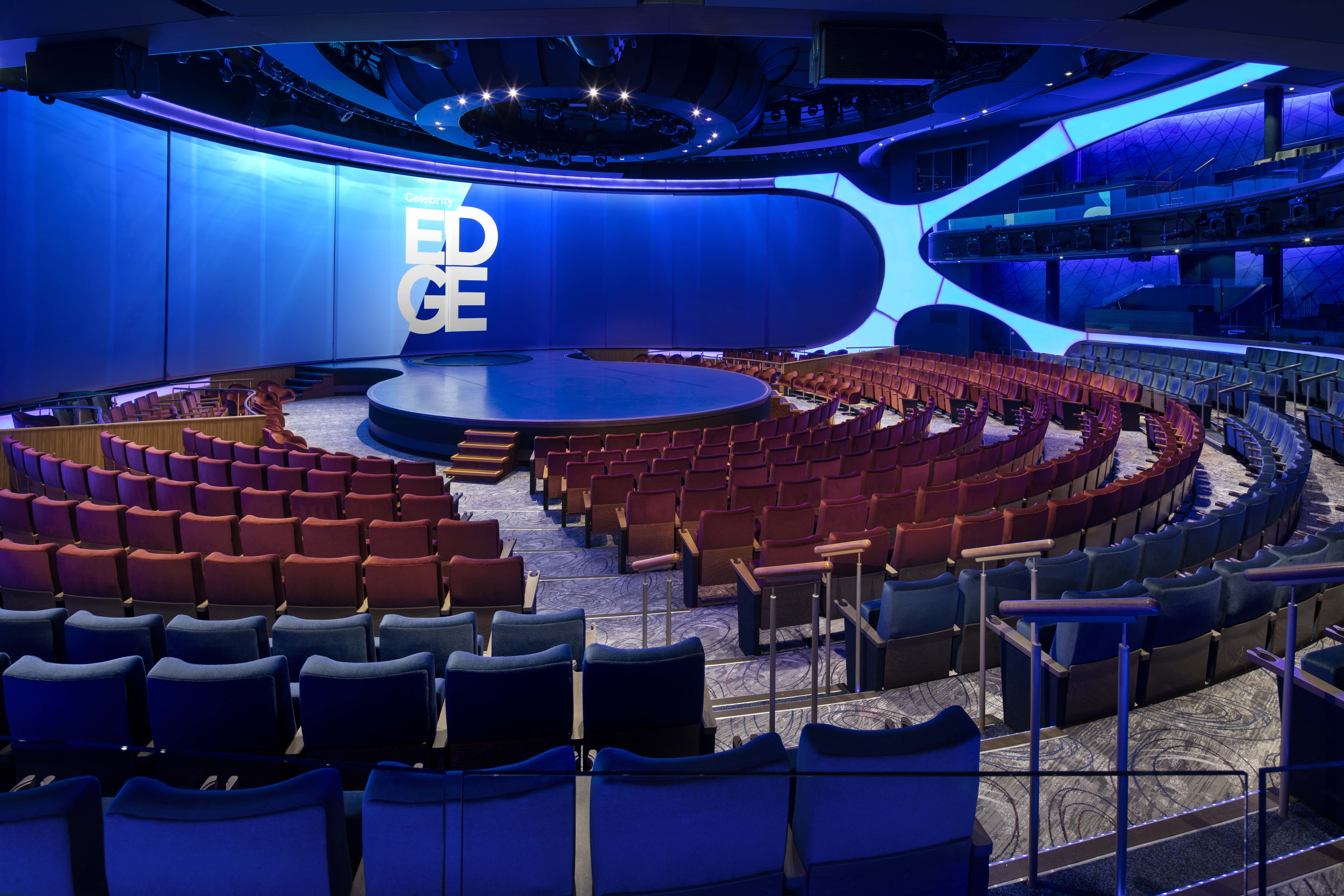 Celebrity Edge, EG, The Theater, theatre, entertainment, onboard, architectural, Celebrity Apex, AX