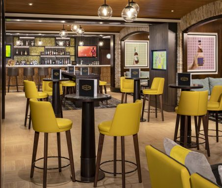 Celebrity Silhouette, SI, Celebrity Revolution, revitalized, refurbishment, public venue, public rooms, Solstice Class, Craft Social, bars and lounges, Craft Social Bar, architecture,