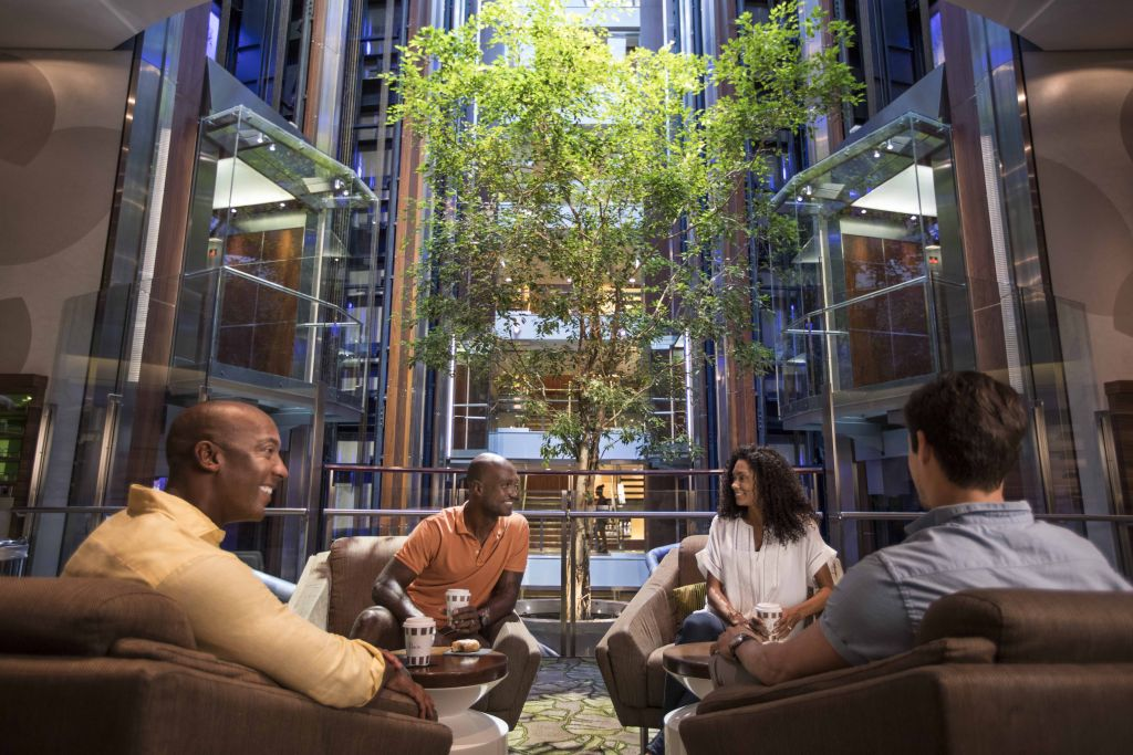 A group meeting in The Hideaway on Celebrity Cruises