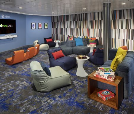Celebrity Silhouette, SI, Celebrity Revolution, revitalized, refurbishment, public venue, public rooms, Solstice Class, Teen Lounge, youth activities, kids and teens, X Club, onboard activities, The Annex