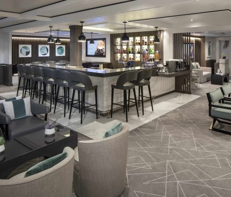 Celebrity Silhouette, SI, Celebrity Revolution, revitalized, refurbishment, public venue, public rooms, Solstice Class, architecture, The Retreat Lounge, Suite Class, bars and lounges, private lounge, design, seating, comfort, exclusive