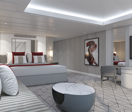 Living area of suite