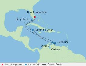 10 Night Southern Caribbean Cruise voyage map