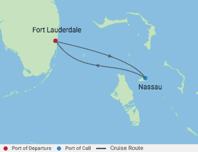 3 Night Edge Preview Sailing Cruise voyage map