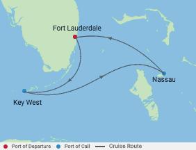 4 Night Bahamas Cruise voyage map