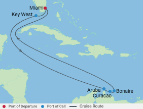 9 Night Southern Caribbean Cruise voyage map
