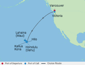 10 Night Hawaii Cruise voyage map