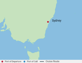 2 Night Sampler Cruise voyage map