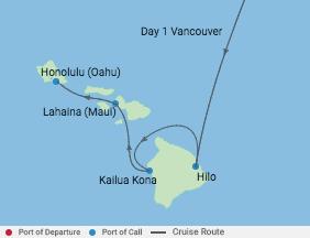 10 Night Hawaii Cruise voyage map