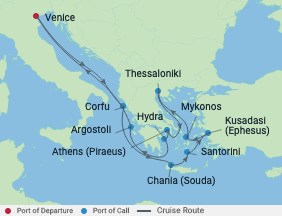 12 Night Turkey & Best Of Greek Islands voyage map