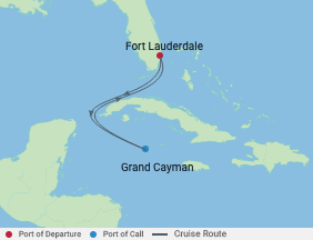 4 Night Grand Cayman Cruise voyage map