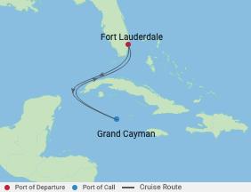 4 Night Grand Cayman Cruise voyage map